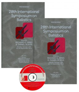 28th International Symposium on Ballistics 2014 flyer image