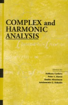 Complex and Harmonic Analysis