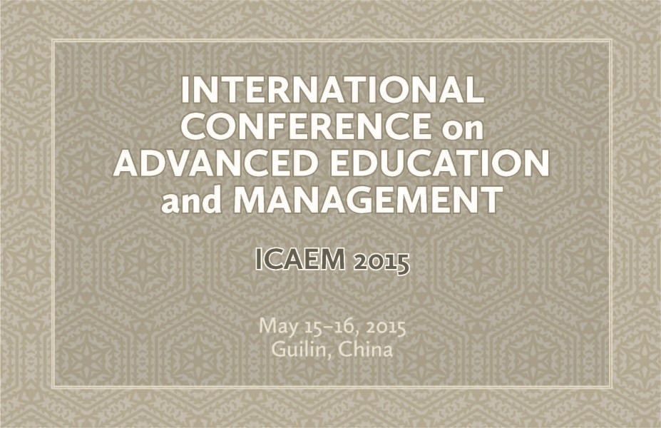 Icaem 2015 Destech Publishing Inc